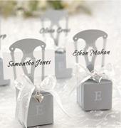 Коробочки для подарков Серебряные стулья