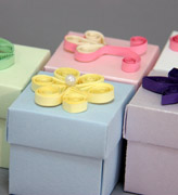 Коробочки для подарков Бонбоньерки квиллинг