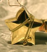 Коробочки для подарков Золотая звезда