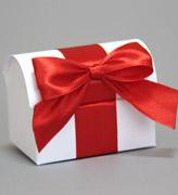 Коробочки для подарков Сундучок белый