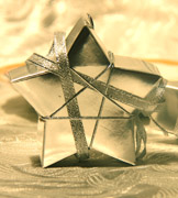 Коробочки для подарков Серебрянная звезда