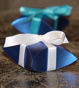 Коробочки для подарков Синие ракушки