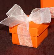Коробочки для подарков Оранжевая коробочка