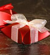 Коробочки для подарков Красные ракушки