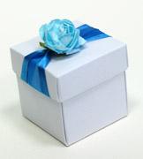 Коробочки для подарков Бело-голубая коробочка